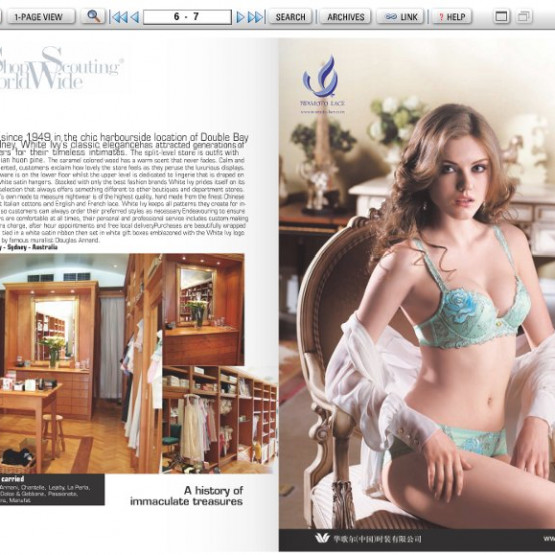 Exemple : la version digitale du magazine A Paris - Intima Asia