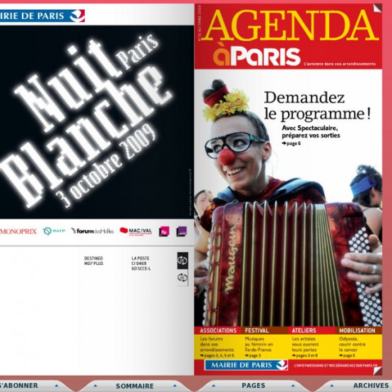 Exemple : la version digitale du magazine A Paris - couverture du magazine digital de la Mairie de Paris