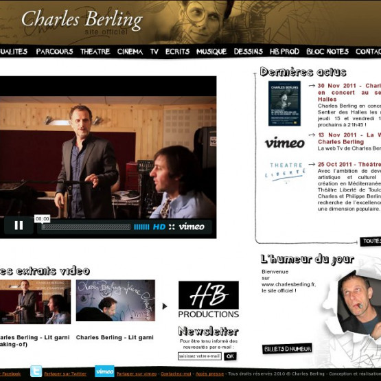 Charles Berling (site Officiel) - Charles Berling - site officiel - page d'accueil