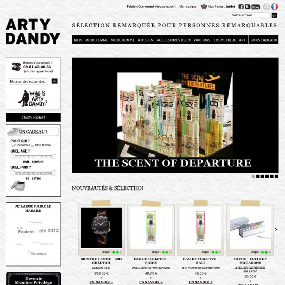 Arty Dandy - Arty Dandy - Galerie Store - Page d'accueil