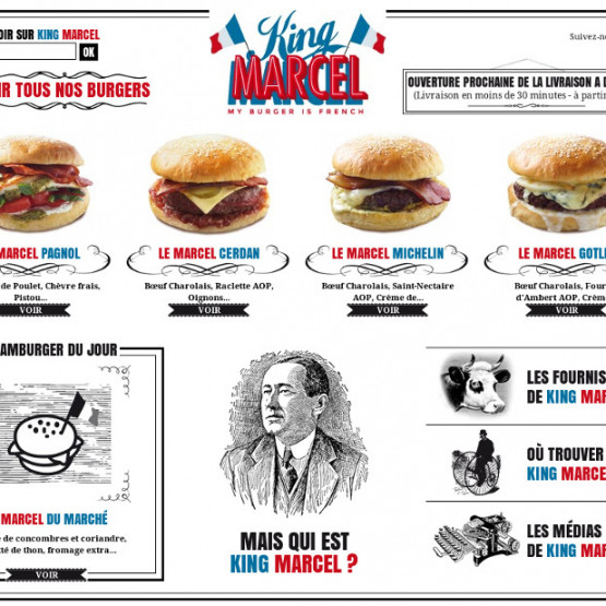 King Marcel - King Marcel - My Burger is French - Page d'accueil