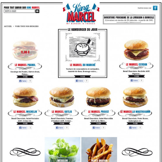 King Marcel - King Marcel - My Burger is French - Page menus
